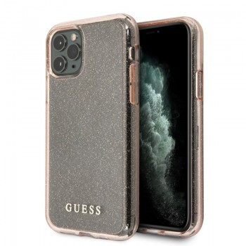 Guess Glitter Case - Etui iPhone 11 (Pink)