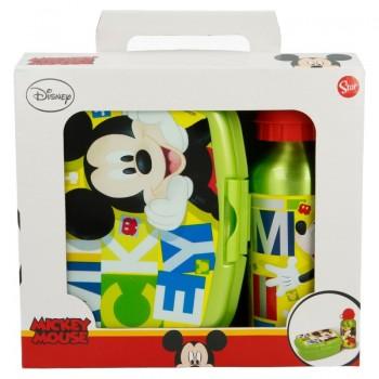 Mickey Mouse - Śniadaniówka + bidon aluminiowy 400 ml