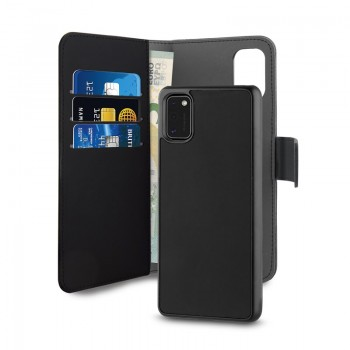 PURO Wallet Detachable - Etui 2w1 Samsung Galaxy A41 (czarny)