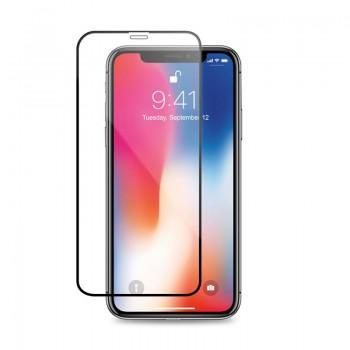 Crong Hybrid Clear Cover - Etui iPhone 11 Pro (czarny) + szkło w zestawie