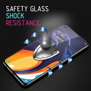 Crong 7D Nano Flexible Glass - Szkło hybrydowe 9H na cały ekran iPhone SE 2020 / 8 / 7 / 6s / 6 (Black)