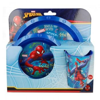Spiderman - Zestaw naczyń (Talerz, miska, kubek)