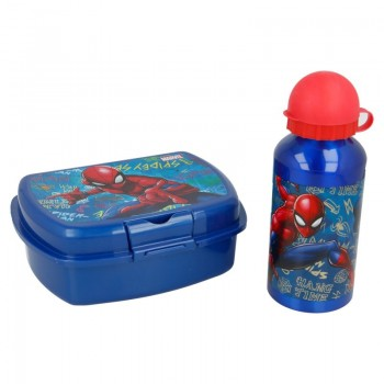 Spiderman - Zestaw Lunchbox + Butelka aluminiowa 400 ml