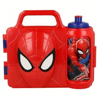 Spiderman - Komplet 2w1 - śniadaniówka + bidon