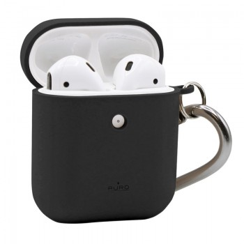 PURO Green Compostable Eco-friendly Cover – Ekologiczne etui Apple AirPods 1&2 (czarny)