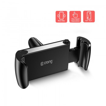 "Crong Universal Smart Car Holder – Uniwersalny uchwyt samochodowy do telefonu 4""-6,7"" (czarny)"