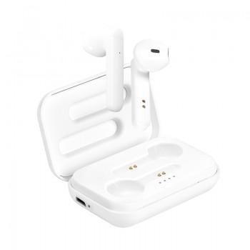 PURO White TWS 5.0 - Bezprzewodowe słuchawki Bluetooth V5.0 z etui ładującym (biały)
