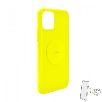 PURO ICON+ Cover - Etui magnetyczne iPhone 11 (żółty)