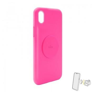 PURO ICON+ Cover - Etui magnetyczne iPhone XR (fuksja)