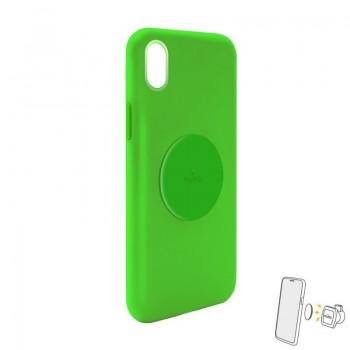 PURO ICON+ Cover - Etui magnetyczne iPhone XR (zielony)
