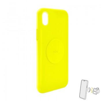 PURO ICON+ Cover - Etui magnetyczne iPhone XR (żółty)