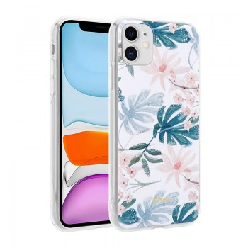 Crong Flower Case – Etui iPhone 11 (wzór 01)