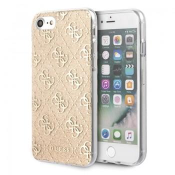 Guess 4G Glitter - Etui iPhone SE 2020 / 8 / 7 (Gold)