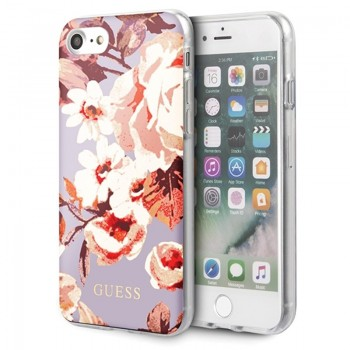 Guess Flower Shiny Collection N2 - Etui iPhone SE 2020 / 8 / 7 (Lilac)