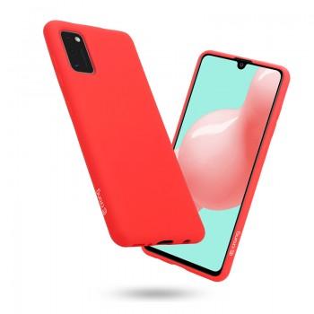 Crong Color Cover - Etui Samsung Galaxy A41 (czerwony)