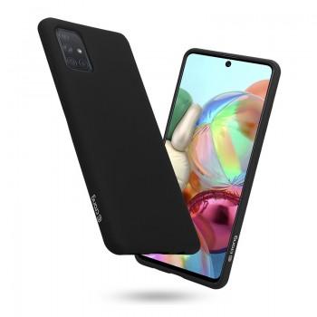 Crong Color Cover - Etui Samsung Galaxy A71 (czarny)