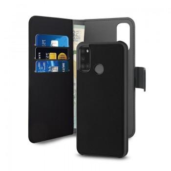 PURO Wallet Detachable - Etui 2w1 Samsung Galaxy A21s (czarny)