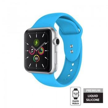 Crong Liquid Band - Pasek Apple Watch 38/40 mm (niebieski)