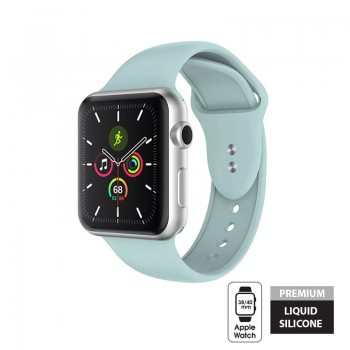 Crong Liquid Band - Pasek Apple Watch 38/40 mm (turkusowy)