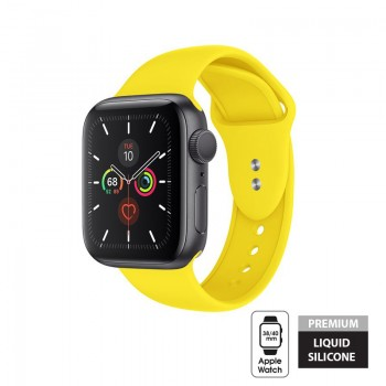 Crong Liquid Band - Pasek Apple Watch 38/40 mm (żółty)