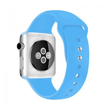 Crong Liquid Band - Pasek Apple Watch 42/44 mm (niebieski)