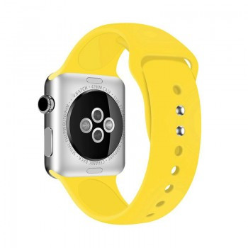 Crong Liquid Band - Pasek Apple Watch 42/44 mm (żółty)