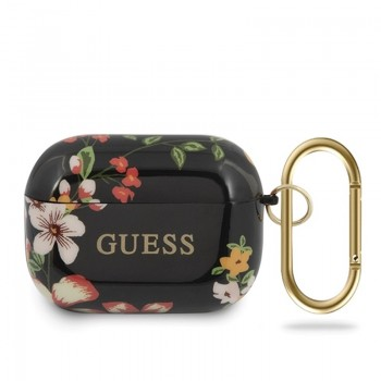 Guess Flower Collection N4 - Etui Airpods Pro (Black)