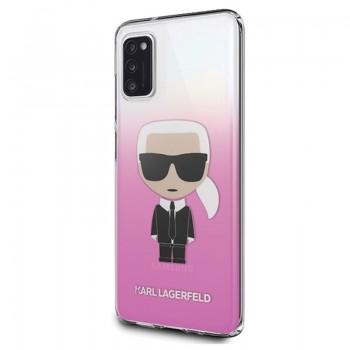 Karl Lagerfeld Iconic Karl Gradient - Etui Samsung Galaxy A41 (różowy)