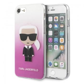 Karl Lagerfeld Iconic Karl Gradient - Etui iPhone SE 2020 / 8 / 7 (różowy)