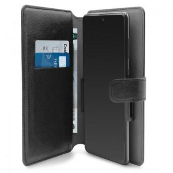 PURO Universal Wallet - Uniwersalne etui obrotowe 360° z kieszeniami na karty, rozmiar XXL (czarny)