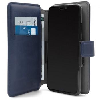 PURO Universal Wallet - Uniwersalne etui obrotowe 360° z kieszeniami na karty, rozmiar XL (granatowy)
