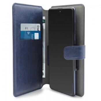 PURO Universal Wallet - Uniwersalne etui obrotowe 360° z kieszeniami na karty, rozmiar XXL (granatowy)
