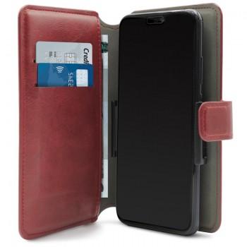 PURO Universal Wallet - Uniwersalne etui obrotowe 360° z kieszeniami na karty, rozmiar XL (czerwony)