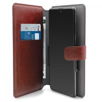 PURO Universal Wallet - Uniwersalne etui obrotowe 360° z kieszeniami na karty, rozmiar XXL (czerwony)