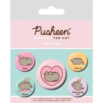 Pusheen - Zestaw 5 przypinek do ubrań lub plecaka