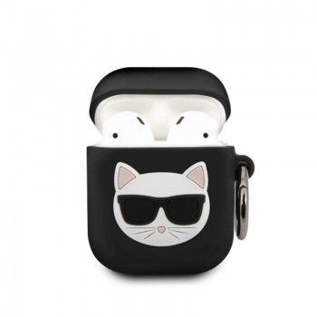 Karl Lagerfeld Choupette 3D - Etui Apple Airpods (black)