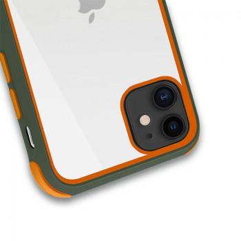 Crong Trace Clear Cover - Etui iPhone 11 (cyjan/pomarańczowy)