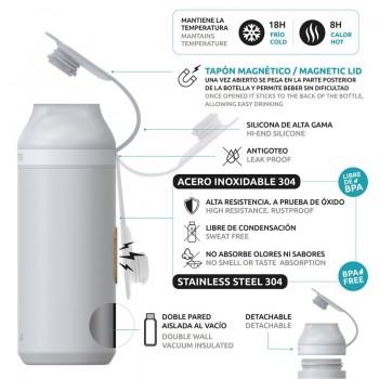 Quokka Mineral Steel - Butelka na wodę z magnetycznym zamknięciem 430 ml (Geo)