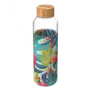 Quokka Flow -  Butelka na wodę ze szkła 660 ml (Tropical)