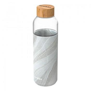 Quokka Flow -  Butelka na wodę ze szkła 660 ml (White Stone)