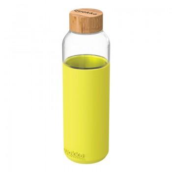 Quokka Flow -  Butelka na wodę ze szkła 660 ml (Neon Green)