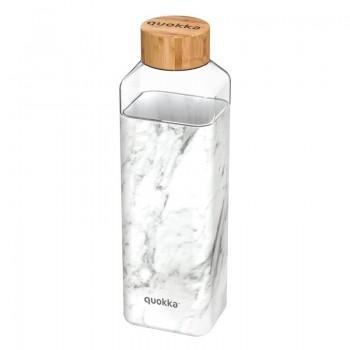 Quokka Storm -  Butelka na wodę ze szkła 700 ml (Marble)