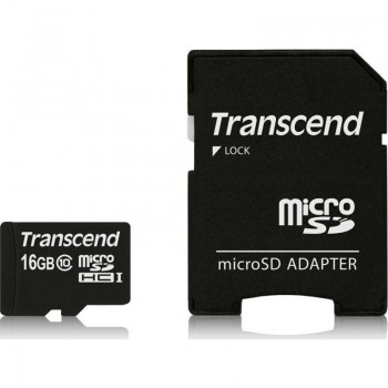 Transcend Memory MicroSDHC Class 10 - Karta pamięci 16 GB