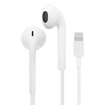 PURO Core Pro Stereo Earphones - Słuchawki ze złączem lightning MFi, z płaskim kablem, mikrofonem i pilotem (Biały)