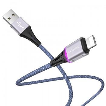 Borofone Glory - kabel połączeniowy USB do Lightning (niebieski)