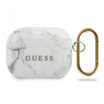 Guess Marble - Etui Airpods Pro (biały)