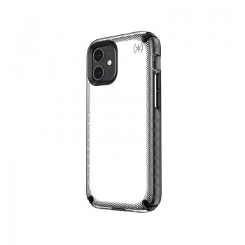 Speck Presidio2 Armor Cloud - Etui iPhone 12 Mini z powłoką MICROBAN (Clear/Black)