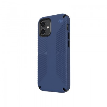Speck Presidio2 Grip - Etui iPhone 12 Mini z powłoką MICROBAN (Coastal Blue/Stormblue)