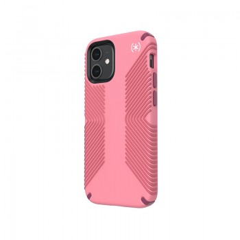 Speck Presidio2 Grip - Etui iPhone 12 Mini z powłoką MICROBAN (Vintage Rose/Royal Pink)