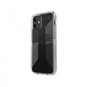 Speck Presidio Perfect-Clear with Grips - Etui iPhone 12 Mini z powłoką MICROBAN (Clear)